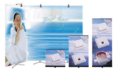 Banner Stands are available in a wide variety of sizes.